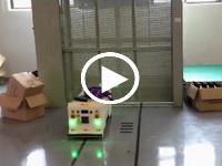 欧铠机器人自动进出电梯小型AGV