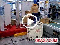 机械手向欧铠AGV搬送货物视频