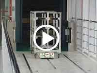 欧铠全向潜伏横移AGV自动进出电梯应用视频(跨楼层解决方案)