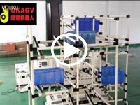 欧铠AGV全自动物料箱配送回收展示视频