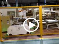 欧铠滚筒AGV运载治具自动对接实例