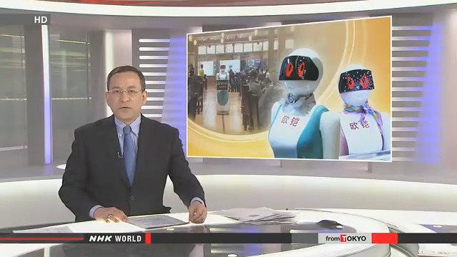 日本NHK报道-欧铠餐厅机器人