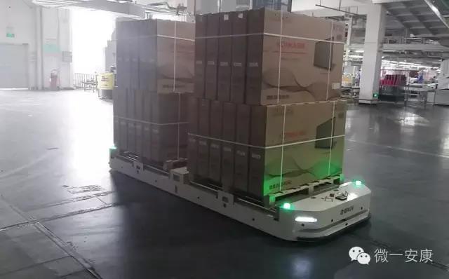 欧铠AGV入驻安康公司,节省了成本又提高效率