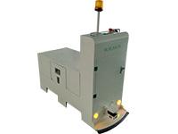Magnetic tape guided tugger AGV
