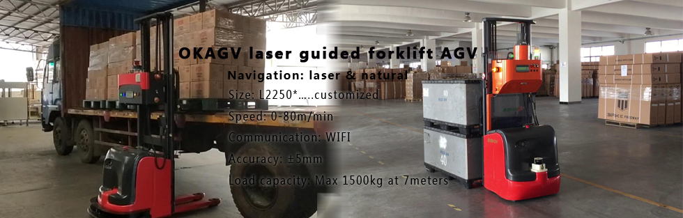 OKAGV laser guided forkli