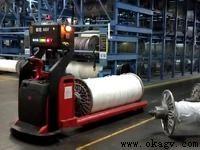 欧铠激光叉车在纺织业应用视频